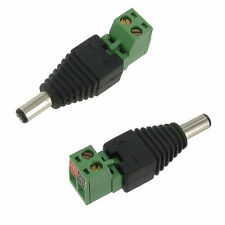 2.1mm x 5.5mm Male Terminal Strip DC Power Connector CCTV Security Pack of 10