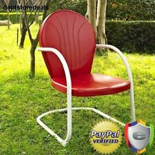 Retro Vintage Metal Patio Lawn Furniture Outdoor Spring Base Chair Steel Garden