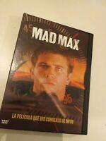 Dvd MAD MAX( LA PELICULA QUE DIO COMIENZO AL MITO)CON MEL GIBSON/ coleccionistas