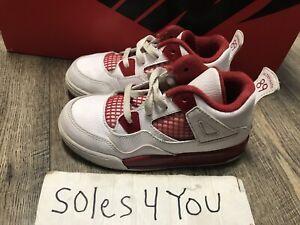 Nike Air Jordan 4 Retro Gym Red  White Size 10c
