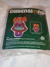 Dimensions 8031 Rag Doll Christmas Ornament Crewel Kit Rare Vintage