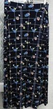 "( Ref 792 ) TU - Size 12 W 30"" - Blue / Multi Floral Full Length /  Maxi Skirt"