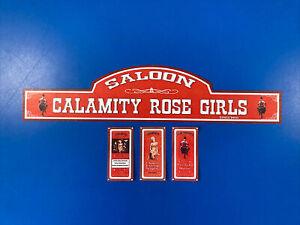 Playmobil Western * Calamity Rose Girls  *autocollant - Sticker Maison Western