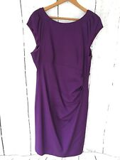 COAST Purple Dress Size 18 Beautiful Ruched Side Detail Shift Party Wiggle