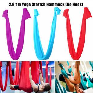 Anti-Gravity Elastic Yoga Swing Hammock Aerial Trapeze Inversion Sling Strap