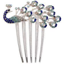 Lovely Vintage Crystal Peacock Hair Clips for hair clip Beauty Tools TS