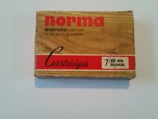 Ammunition Box Vintage Norma 7mm Magnum (Empty) with insert