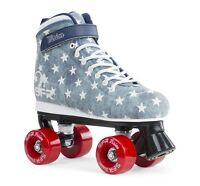 SFR Kids Vision II Canvas Quad Roller Skates - Jeans