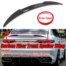 Carbon Fiber Rear Trunk Lip Spoiler For Alfa Romeo Giulia 2017-2019 VQ Style