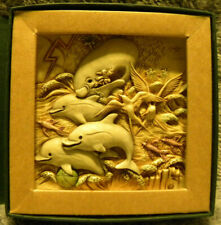 Harmony Kingdom Picturesque ~Dolphin Downs~ Noah'S Park Tile Nos