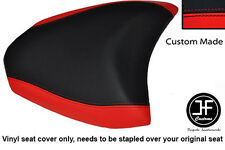 RED & BLACK VINYL CUSTOM 2010+ FITS DUCATI MULTISTRADA 1200 S REAR SEAT COVER