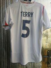England #5 Terry original Umbro home soccer shirt jersey 05-06-07 seasons Size L