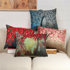 30x50cm Vintage Flower Cotton Linen Pillow Case Cushion Cover Home Sofa  I