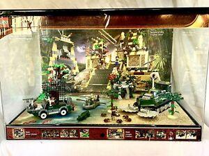 Large! Indiana Jones Vintage Lego Shop Display Case Light&sounds