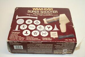 Vintage WEAR-EVER 70123 Electric Super Shooter Cookie Press No Manual WORKS