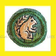 Mammal 1948 Girl Scout Intermediate Badge Bmg, Squirrel Rare Patch Combine Ship