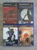 Lot of 4 PS2 Games Red Faction 1 & 2 , Soulcalibur 2 , Underworld : Eternal War