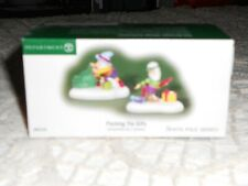 Dept 56 North Pole Village Accessory Packing The Gifts Nib