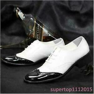 British Men's Lace Up Wing Tip Fashion Patent Leather Oxfords Dress Formal Shoes