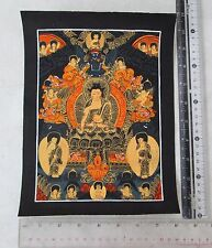 Old Tibet Tibetan Hand Painted Buddhist Thangka Mandala Painting Gold Leaf