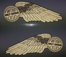 Harley-Davidson HIGH REFLECTIVE WINGS fuel tank decals Shovelhead Silver