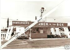 """5x7"""" photo 1960'S JACK in the BOX DRIVE-IN BURGERS  OLD CARS CORVAIR OLDS"""
