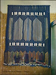 1970s Curtain Pattern - Rare Craft Book: #906 Macrame for Today's Beginner