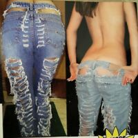 Local Designer Custom Cut Destroyed Womens Jeans Multiple Sizes/Styles/Washes