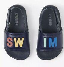 Gymboree Size 4 Toddler Boys SWIM Shoes Sandals Slides Slip On Navy Blue New!