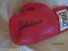 Raging Bull   Jake Lamotta  Signed Boxing Glove Auth Steiner  COA.