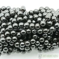 "Natural MAGNETIC Hematite Gemstones Round Beads 4mm 5mm 6mm 8mm 10mm 12mm 16"""