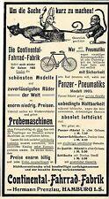 Hermann Prenzlau Hamburg Continental- Fahrrad- Fabrik  Panzer- Pneumatiks 1903