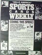 1991 Sports Cards Weekly TV SHOW Don Sutton Baseball~Joe Montana~Jordan Promo AD