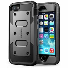 For iPhone 5/5s/SE i-Blason Armorbox Full Body Holster Case w/ Screen Protector