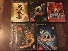 Lot Of 5 Capcom Set Onimusha PS2 Set 1,2,3,4&5 Japan Import US SELLER