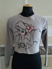 Disney Princess Ariel Little Mermaid Cropped Sweatshirt JR. M