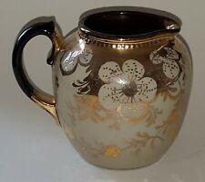 Copper lustre vintage Victorian antique flower design jug