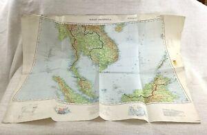 1931 Military map of Singapore Johore Malaysia Malay Peninsula War Office Issue