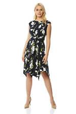 cd9416ef59e Roman Originals Womens Hanky Hem Fit and Flare Floral Print Dress