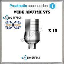 10X Dental Titanium Straight Wide Abutments For Internal Hex System Implants
