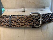 Vintage Distressed Tooled Leather Belt