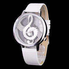 Watch Music Note Stainless Steel Quartz White & Silver - New FREE TRACKING
