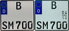 kleines Motorrad Kennzeichen 180x200mm Motorradkennzeichen auch Saison