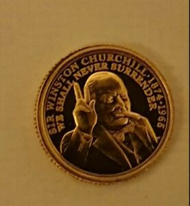 Winston Churchill 2020 gold quarter sovereign  Sold To Aid Charity