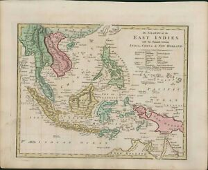 1806 Map East Indies China New Holland Formosa South East Asia Borneo B11.25