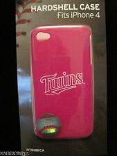 MLB MINNESOTA TWINS PINK~IPHONE 4/4S HARDSHELL POLYCARBONATE CASE~TRIBECA~NIP