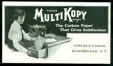 c1915 Ink Blotter Advertising MultiKopy Carbon Paper Great Typewriter