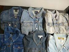 Bulk Clothing Lot: 6 Jacket Female Multi Vintage Denim Plus Large Xl Xxl Sizes