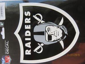 Oakland Raiders  FOOTBALL NFL -  MEDIUM LOGO STICKER GRAY HELMIT