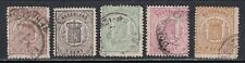Netherlands 17-21 Used 1869-1871 Coat of Arms 5 Different SCV $167.50